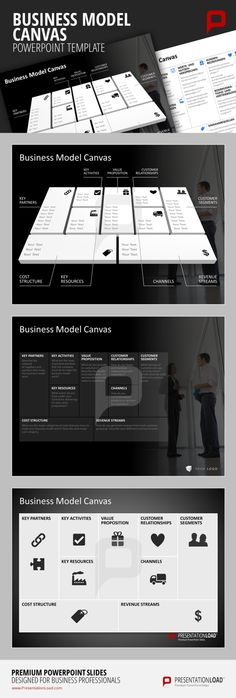 Business Model Canvas PowerPoint Template Our designers provide you with a broad variety of different Templates to present your individual Business Model Canvas with PowerPoint.  #presentationload www.presentationl...