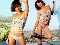 How To: Milla Jovovich T-Shirt Bathing Suit