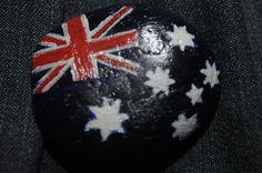 Australia flag rock painting by ~dkey78 on deviantART
