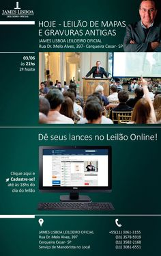 Newsletter do leilão de arte realizado por James Lisboa Leiloeiro Oficial - #design #web #interface