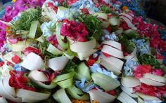 Flowers for offering Bali