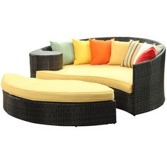 Yin and Yang Outdoor Daybed Orange via The Beach Look. Click on the image to see more!