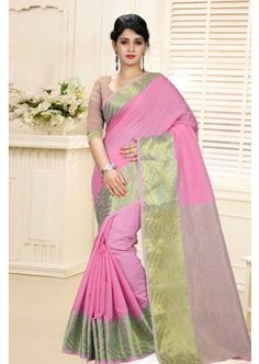 couleur rose soie de coton sari, - 49,00 €, #TissuSariIndien #RobeSariMariage #SariMariageIndien #Shopkund