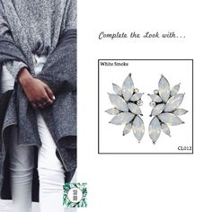 Ref: CL012 White Smoke Medidas: 4 cm x 2.5 cm So Oh: 9.99  #sooh_store #onlinestore #style #inspiration #styleinspiration #brincos #earrings #fashion #shoponline #aw2016 #aw1617 #winterstyle