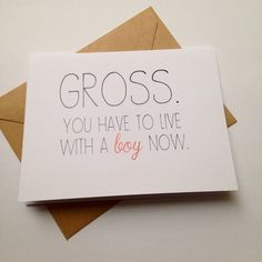 Funny Engagement Card / Humor Wedding Card / Moving In Card / Card for Couple / Congratulations Card by BEpaperie on Etsy https://www.etsy.com/listing/188625999/funny-engagement-card-humor-wedding-card