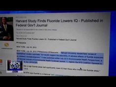 Breaking Fluoride News : Harvard Study Finds Fluoride Lowers IQ