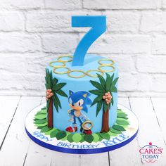Want a mouthwatering fresh cake with full of ingredients, don't worry we are here to deliver the fresh baked cakes within 24 hours at your doorstep. Cakes Today online cake shop in London. Sonic Birthday Cake, Sonic Birthday Parties, 6th Birthday Cakes, Sonic Party, Birthday Cake Girls, Birthday Ideas, Bolo Sonic, Sonic Cake, Sonic The Hedgehog Cake