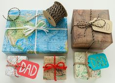 Map Wrap for Father's Day