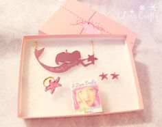 Mermaid Jewelry // You really are a Mermaid in Pink Gift Box by ilovecrafty via Etsy  #kawaii #cute #sweet #pink #jewelry #mermaid