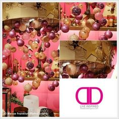 Pink and Gold Christmas Decorating Color Scheme | The Decorating Diva, LLC
