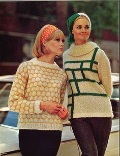 Honey & Sprigs • 1960s Pullover Sweater Hat Patterns • 60s Vintage Knitting Pattern • Retro Knit PDF by TheStarShop on Etsy