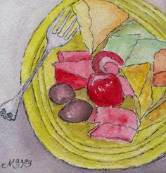 """Marcy Brennan (Born 1951), """"Cheesecake - It's What's for Breakfast!"""""""