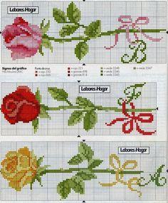 Risultati immagini per flores em ponto cruz Cross Stitch Bookmarks, Cross Stitch Heart, Cross Stitch Borders, Cross Stitch Flowers, Cross Stitch Designs, Cross Stitching, Cross Stitch Embroidery, Embroidery Patterns, Cross Stitch Patterns