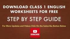 Class 1 English Worksheets Class 1 English, Practice English Grammar, English Grammar Worksheets, Worksheets For Class 1, Model Question Paper, Human Body Organs, Revision Notes, Sample Paper, Class 8