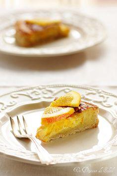 Tarte noisette orange - Crostata alle nocciole e arancia