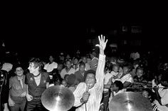 Amazing photo ... new to my eyes.  Bad Brains at Rock Against Racism gig in Washington, photo by Lucian Perkins, 1979