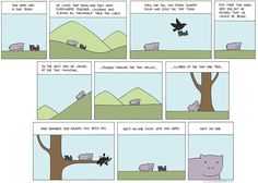 Tiny Hippo Comic reworked into a wallpaper. | RedditLurker - I'm in ur redditz, lurking ur picz