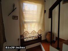 Window Curtain Kitchen Curtain Window Treatment by HonestCotton
