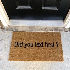 30 Funny Doormats That Will Make Your Guests Laugh Funny Doormats, Great Housewarming Gifts, Welcome Mats, First Home, Home Interior, Interior Design, Home Renovation, House Warming, Home Improvement