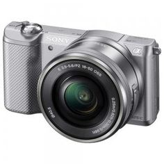 Camera Foto Mirrorless Sony ILCE5000LS, 20MP, Silver + Obiectiv 16-50mm - 1506.51 lei