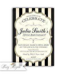 70th Birthday Invitations For Women Invite 13th Invites