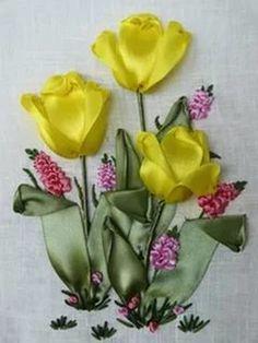 вышивка лентами тюльпаны: 21 тыс изображений найдено в Яндекс.Картинках