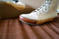 Sneakers Unisex Handmade in Curried Leather by MDesignWorkshop