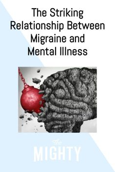 For those of us who endure migraine, our mental health can also be pretty significantly impacted. Besides having a throbbing head, potentially visual auras, muscle spasms, feeling nauseated, and more, there's a mental illness impact as well, not only making the pain seem that much worse, but may involve feelings of anxiety, depression, and more. Read the full story on The Mighty.