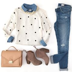 Recent Flatlays Daily Outfits and Home Decor Stylish Petite Preppy Outfits Daily decor Flatlays home Outfits Petite stylish Fashion Mode, Look Fashion, Winter Fashion, Fashion Outfits, Womens Fashion, Denim Fashion, Fall Outfits, Casual Outfits, Sweater Outfits