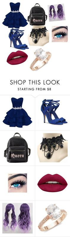 """Untitled #24"" by tsundere-otaku on Polyvore featuring beauty, Charlotte Russe, MINX, Huda Beauty and Saks Fifth Avenue"