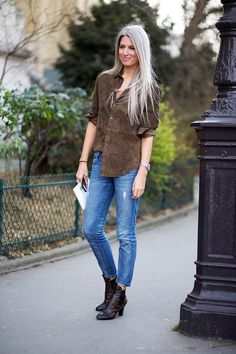 Sarah Harris in Louis Vuitton boots - best way to wear a suede top - cooler-tone shade separates the top from the pack