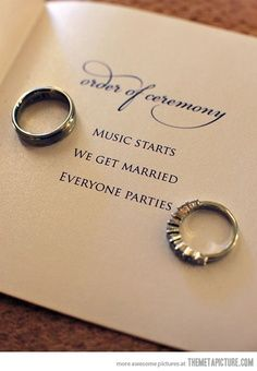 order of ceremony, music start, we get married - Google Search