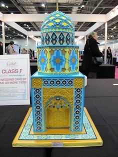 Iranian Mosque Wedding Cake by Tasha's Tasty Treats (4/14/2013) View details here: http://cakesdecor.com/cakes/58588
