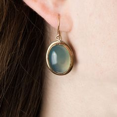 Handmade in New York City, these green agate earrings are bohemian and unique. Shop Peter Hofmeister jewelry on DARA artisans, a unique marketplace for handmade crafts.