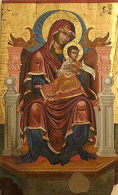 Virgin Mary, Ancient Greek, Catholic, Sketches, Faith, Religion, Painting, Dios, Byzantine