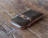 iPhone Leather Protective Case -- Available for iPhone 6 iPhone 5/5s iPhone 4/4s ---- Distressed Leather Perfection - 030