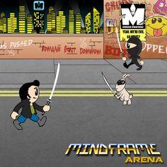 Street Ninjas #mindframearena #videogame #game #dev #mobile Game Dev, Bart Simpson, Videogames, Street, Movies, Movie Posters, Fictional Characters, Ninjas, Films