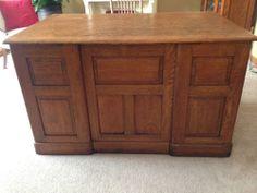 Antique, Executive Raised Panel Oak Desk, Circa 1885, American Eastlake Oak Desk #Victorian