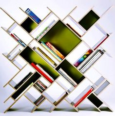 Cool bookshelf via The Interiors on Facebook