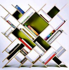 Cool bookshelf via The Interiors on Facebook