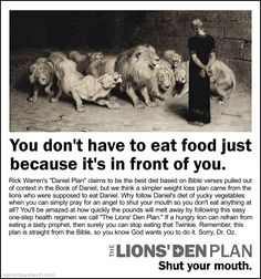 The Lions' Den Plan - The Sacred Sandwich