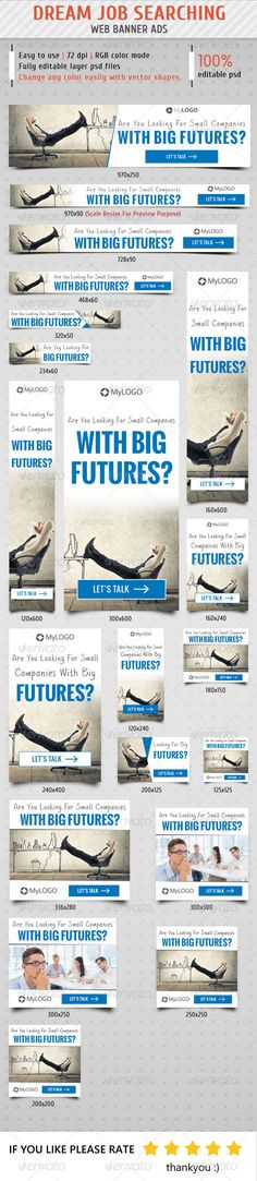 Job Searching Web Banner Ads Template PSD | Buy and Download: http://graphicriver.net/item/job-searching-web-banner-ads/8610952?WT.ac=category_thumb&WT.z_author=samiul75&ref=ksioks