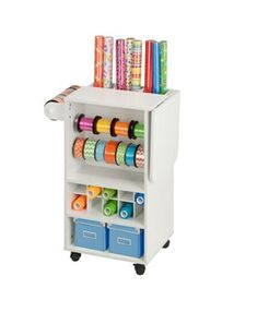Honey Can Do Gift Wrapping Storage Cart In 2020 Storage Cart