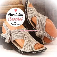 Sandalias tejidas a crochet / Paso a paso   Todo crochet
