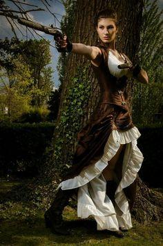 Victorian Lara Croft, by Esaikha