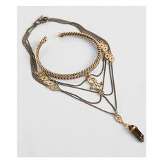 Festive Stone Arm Cuff ($20) ❤ liked on Polyvore featuring jewelry, bracelets, gold, chain jewelry, stone bangles, chain pendant, stone pendants and arm cuff jewelry