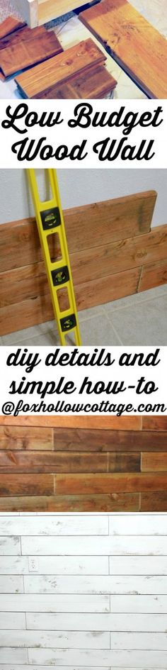 Fence Board Planked Wall How To Low Budget DIY Wood Planked Wall How-To xhollowcottage Do It Yourself Furniture, Do It Yourself Home, Diy Furniture, Wood Plank Walls, Planked Walls, Timmy Time, Diy Wood Wall, Fence Boards, Building A Fence