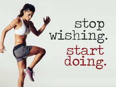 Stop wishing. Start doing. Wandtattoo als Motivationshilfe für Fitness, Sport und Ausdauer. #Sport #Spruch #Wandtattoo #Training