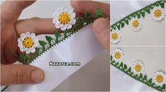 PAPATYALI KENAR OYASI ANLATIMLI Crochet Borders, Easy Crochet, No Frills, Crochet Projects, Diy And Crafts, Pattern, Jewelry, Craft, Crochet Stitches