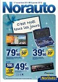 Catalogue Norauto C'est Noël tous les jours ! du lundi 17 novembre 2014 au samedi 3 janvier 2015 ( 17/11/2014 - 03/01/2015 )